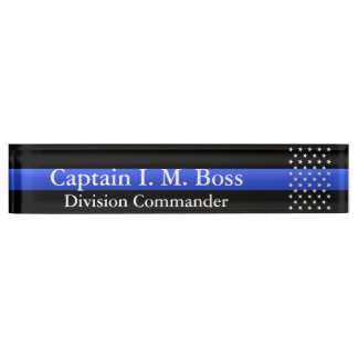 Thin Blue Line - Stars Name Plate