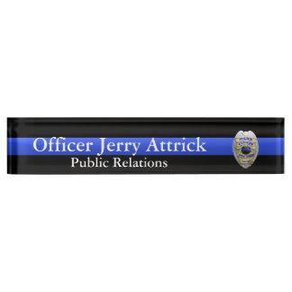 Thin Blue Line - Super Hi Res Police Officer Badge Nameplates