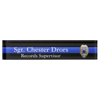 Thin Blue Line - Super Hi Res Police Supvr Badge Name Plates