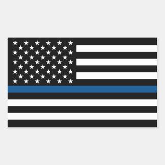 Thin Blue Line Support Police Sticker