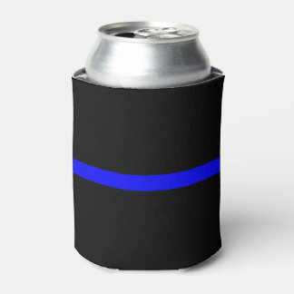 Thin Blue Line Symbolic Memorial on a Can Cooler