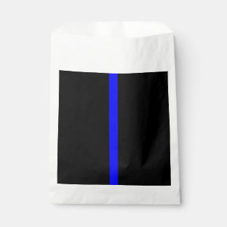Thin Blue Line Symbolic Memorial on a Favour Bag