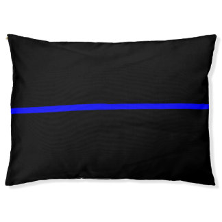 Thin Blue Line Symbolic Memorial on a Pet Bed