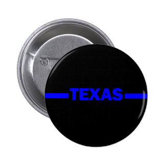 Thin Blue Line TEXAS Police Officer 2 Inch Round Button