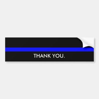 Thin Blue Line - Thank You Bumper Sticker
