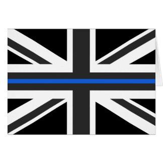Thin Blue Line UK Flag Card