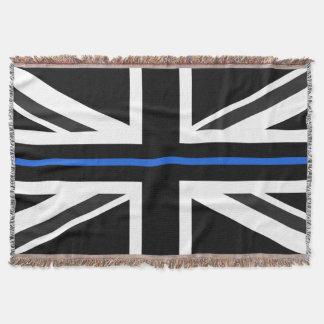 Thin Blue Line UK Flag Throw Blanket