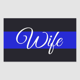 Thin Blue Line Wife Sticker