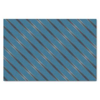 Thin Carbon Metallic Diagonal Stripes Tissue Paper