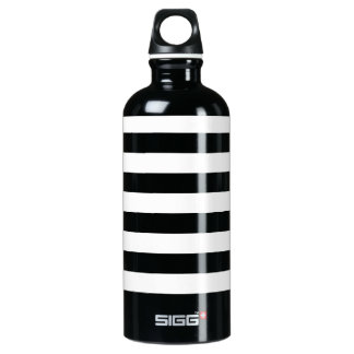 Thin Horizontal Stripes Aluminum Water Bottle