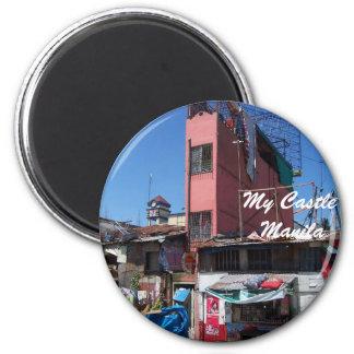 Thin House2, My Castle  Manila Refrigerator Magnet