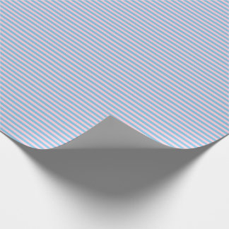 Thin Light Blue and Light Pink Stripes Wrapping Paper
