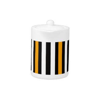 thin orange black stripes