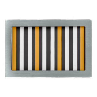 thin orange black stripes belt buckle