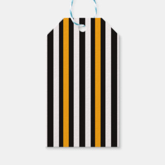 thin orange black stripes gift tags