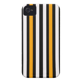 thin orange black stripes iPhone 4 cover