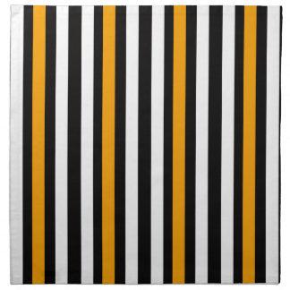 thin orange black stripes napkin