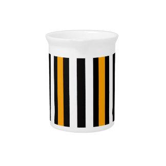 thin orange black stripes pitcher