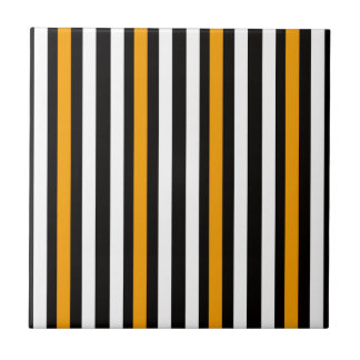 thin orange black stripes tile