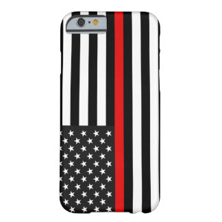 Thin Red Line American Flag Barely There iPhone 6 Case
