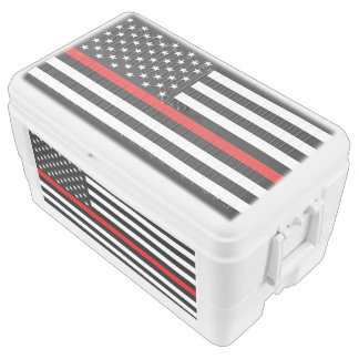 Thin Red Line American Flag Chest Cooler