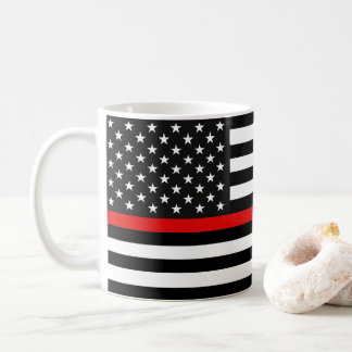 Thin Red Line American Flag Coffee Mug