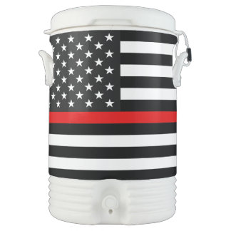 Thin Red Line American Flag Cooler