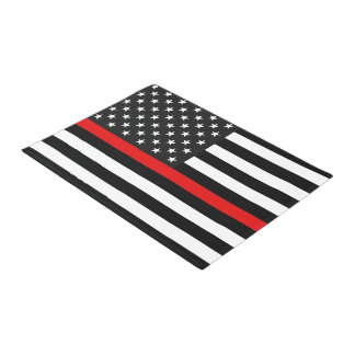 Thin Red Line American Flag Doormat