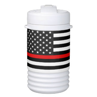 Thin Red Line American Flag Drinks Cooler