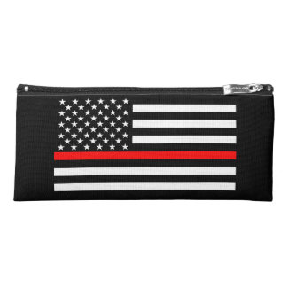 Thin Red Line American Flag graphic on a Pencil Case