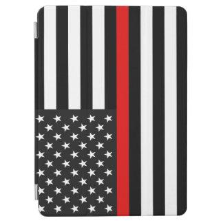 Thin Red Line American Flag iPad Air Cover