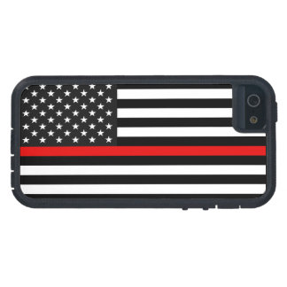 Thin Red Line American Flag iPhone 5 Case