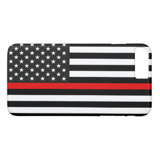 Thin Red Line American Flag iPhone 8 Plus/7 Plus Case