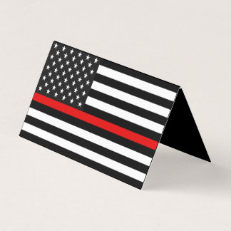 Thin Red Line American Flag Memorial Card