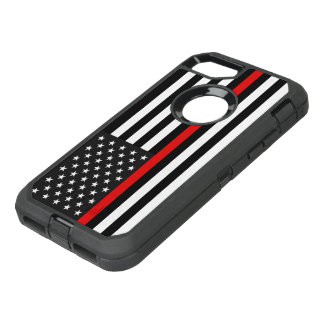 Thin Red Line American Flag OtterBox Defender iPhone 8/7 Case