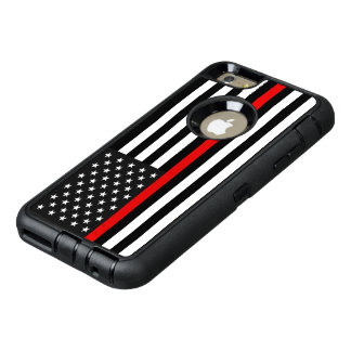 Thin Red Line American Flag OtterBox Defender iPhone Case