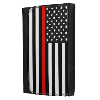 Thin Red Line American Flag Wallets For Women