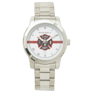 Thin Red Line Customized Fire Rescue Themed Watch