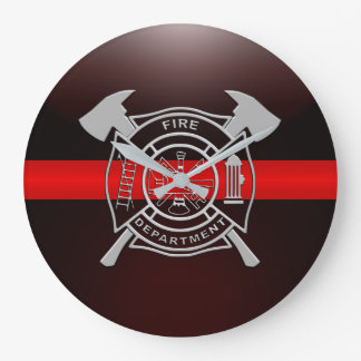 Thin Red Line Fire Station House Wall Clocks