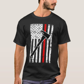 Thin Red Line Firefighter men's Flag T-shirt