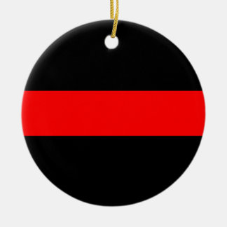 Thin Red Line Firefighter Ornament