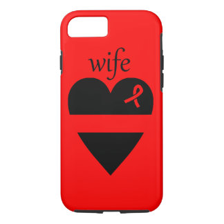 Thin Red Line Fireman Wife Heart iPhone 7 Case