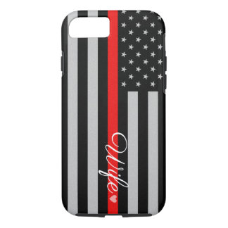 Thin Red Line Flag Wife iPhone 7 Case