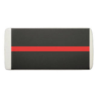 Thin Red Line graphic on a Eraser