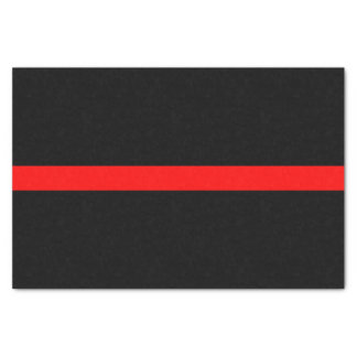 Thin Red Line Memorial Symbol on Tissue Paper