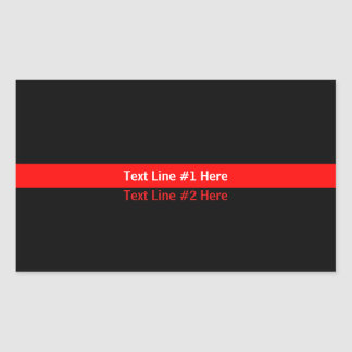 Thin Red Line Memorial Symbolic with text on Sticker