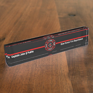 Thin Red Line Name Plate