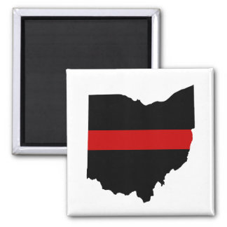 Thin Red Line Ohio Magnet