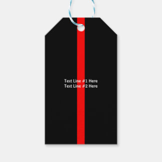Thin Red Line Remembrance with text on a Gift Tags