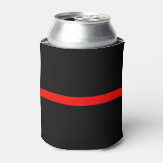 Thin Red Line Symbolic Memorial on a Can Cooler
